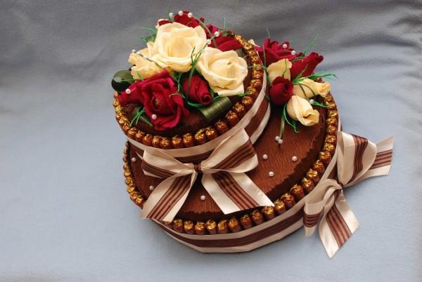Торт з цукерок своїми руками: майстер-клас з покроковим фото