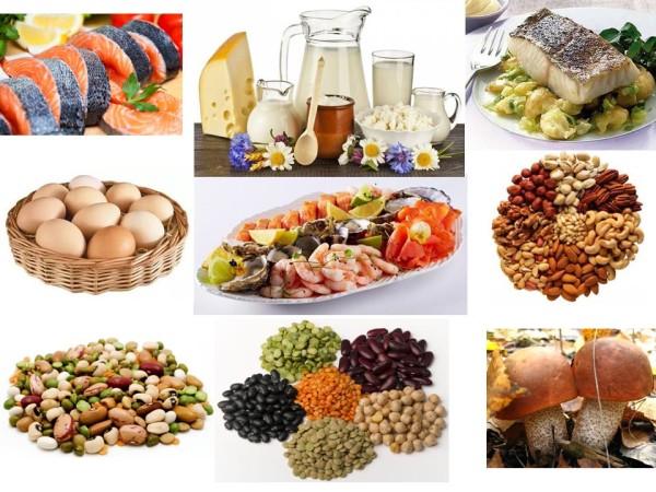 Продукти з найбільшим вмістом білка: список таблиця