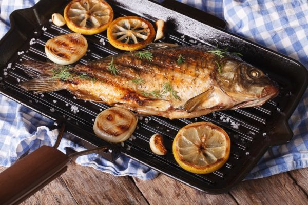 Риба на сковороді гриль: рецепти з фото, калорійність