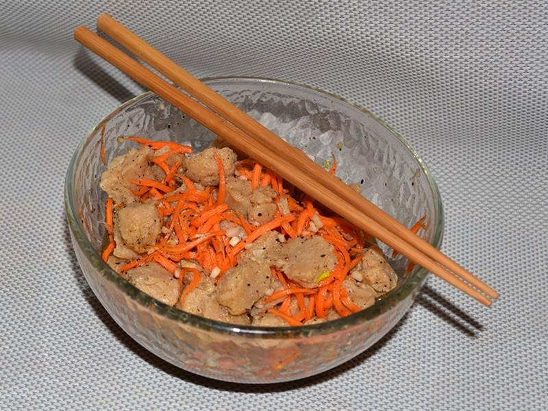 Соєве м'ясо по-корейськи - рецепти приготування салату