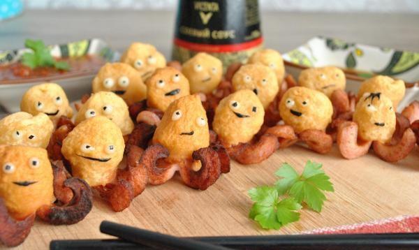 Восьминоги з сосисок - рецепти з фото для дитячого меню