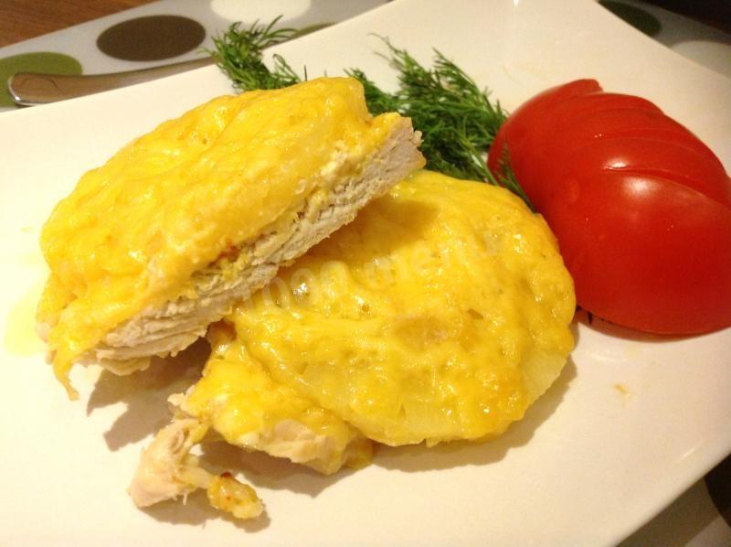 Індичка з ананасами (тушкована, печена): покрокові рецепти