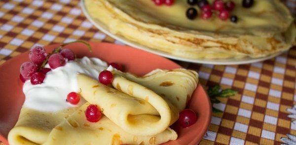 Млинці з борошна для млинців (на молоці, на воді): домашні рецепти