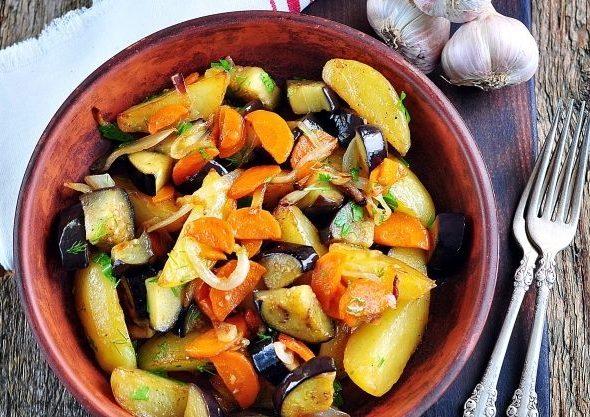 Баклажани з картоплею (по-китайськи, запечені): рецепти