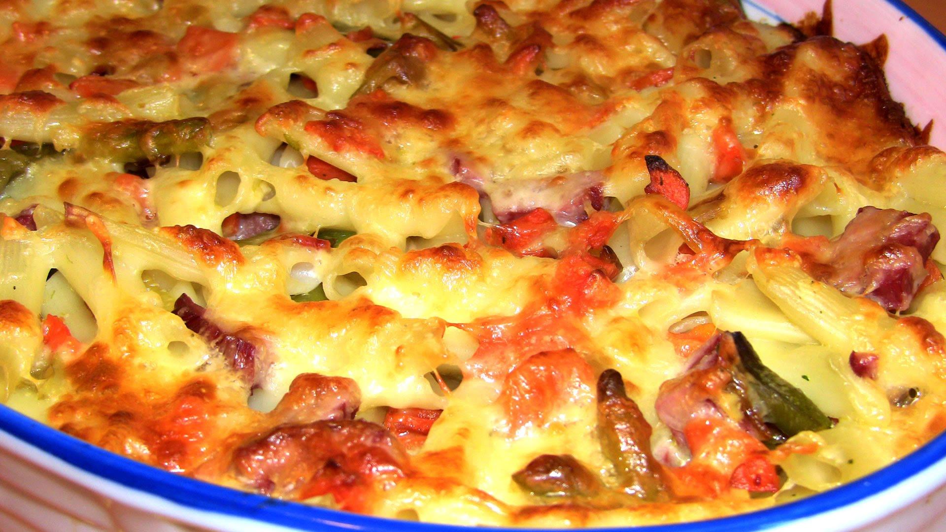 Запіканка з макаронів з сиром - покрокові рецепти з фото