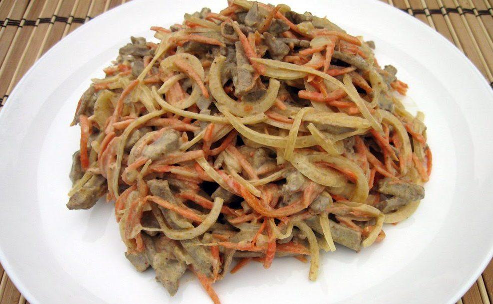 Салат з печінки з морквою: покрокові рецепти, калорійність