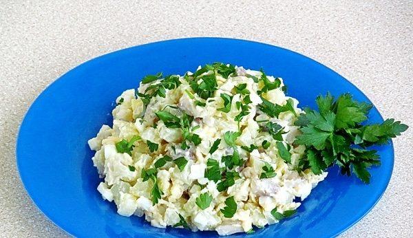 Оселедець з картоплею (у духовці, салати): рецепти з фото