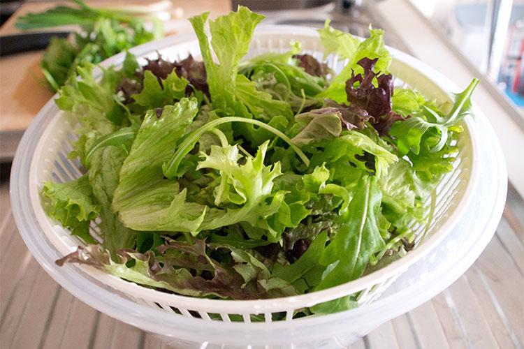 Салат із зелені (з овочами, з сиром): рецепти з фото
