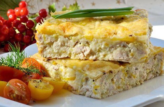 Запіканка з курячої грудки: з сиром, кабачком і картоплею