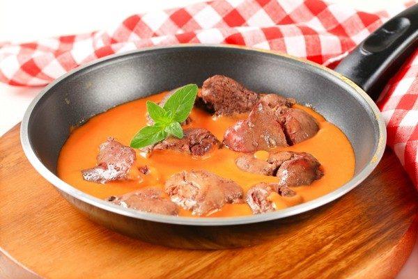 Печінка з підливою (куряча, свиняча, яловича): рецепти з фото
