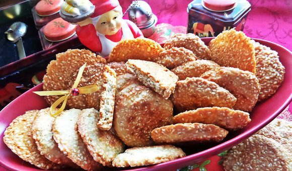 Печиво з кунжутом (Цибуліно, Фітнес, пісочне): рецепти
