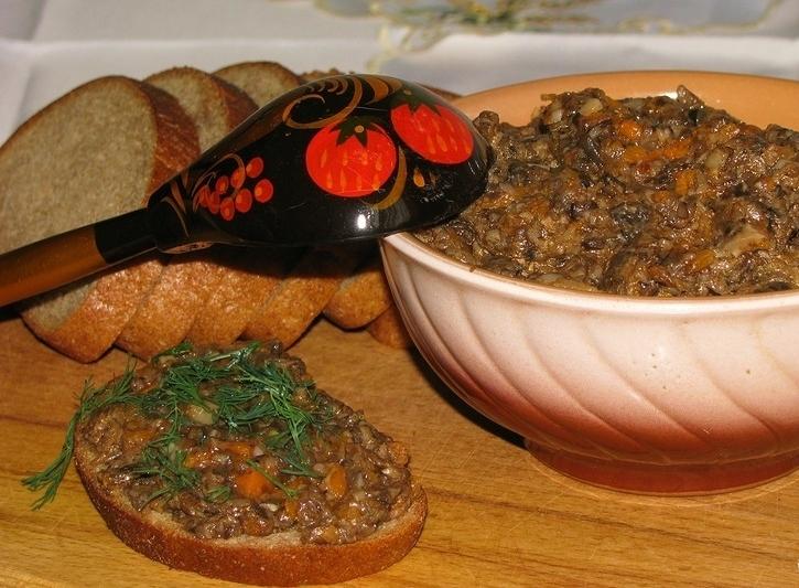 Ікра з грибів (свіжих, заморожених, сушених): рецепти