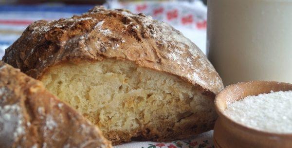 Хліб на кефірі без дріжджів в духовці, хлібопічка, мультиварці