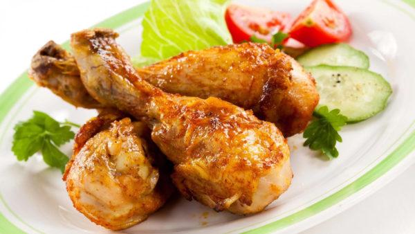 Рецепт курячої гомілки на сковороді з фото, калорійність