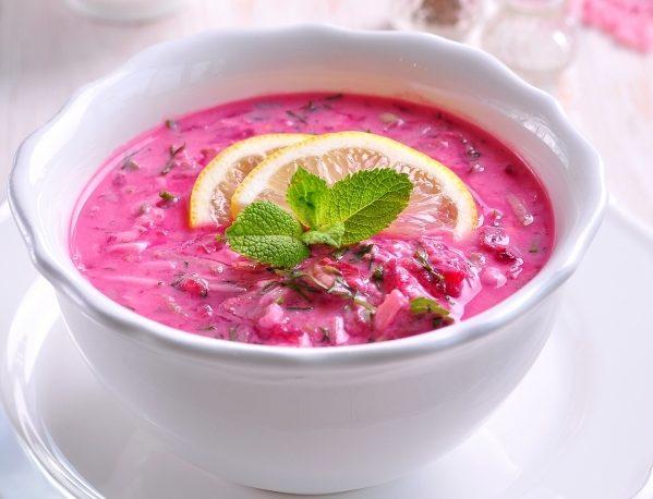 Борщ на кефірі (холодний, гарячий): рецепти з фото