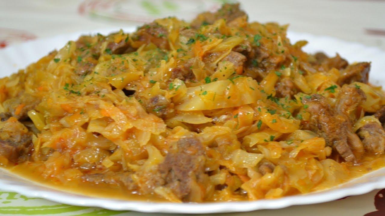 Тушкована капуста зі свининою: калорійність, рецепти з фото