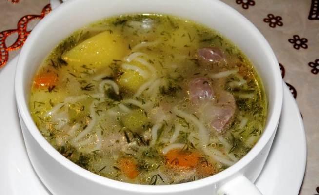 Суп з курячих шлунків (гороховий, з локшиною) - рецепти