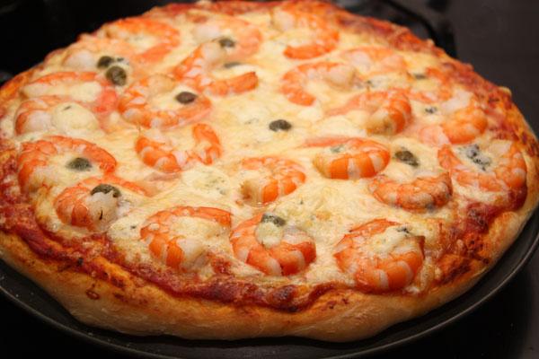 Піца з креветками: домашні рецепти з фото, калорійність