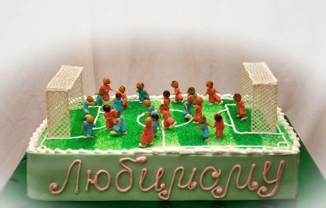 Торт «Футбольне поле»: майстер-клас покроково з фото, поради