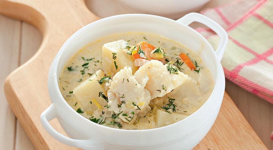 Суп з тріски (з картоплею, для дітей): рецепти з фото