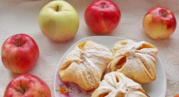 Булочки з листкового тіста: з яблуками, з сиром і варенням