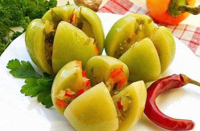 Зелені помідори по-корейськи: найсмачніший рецепт з фото