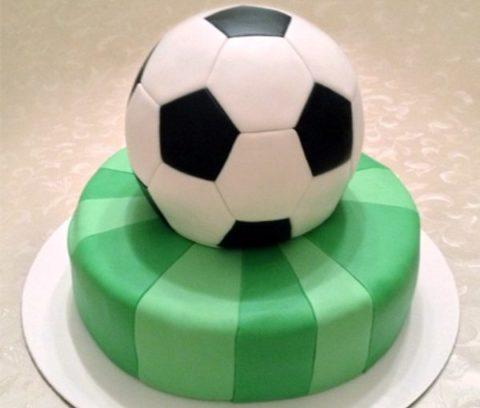 Торт «Футбольний м'яч»: майстер-клас покроково з фото