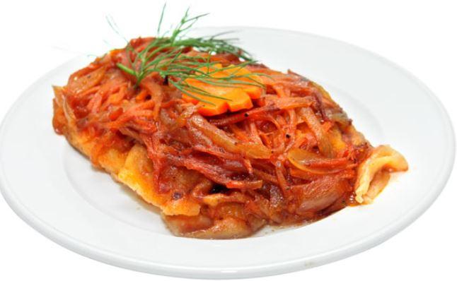 Минтай під маринадом з моркви і цибулі: покрокові рецепти