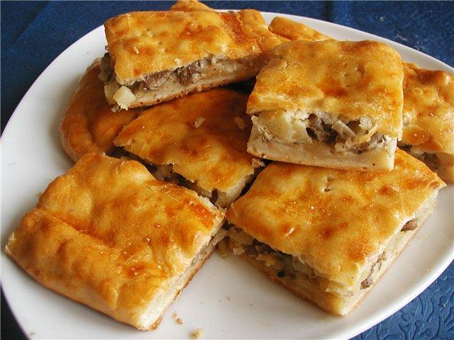Пиріг з м'ясом і картоплею: прості рецепти з фото покроково