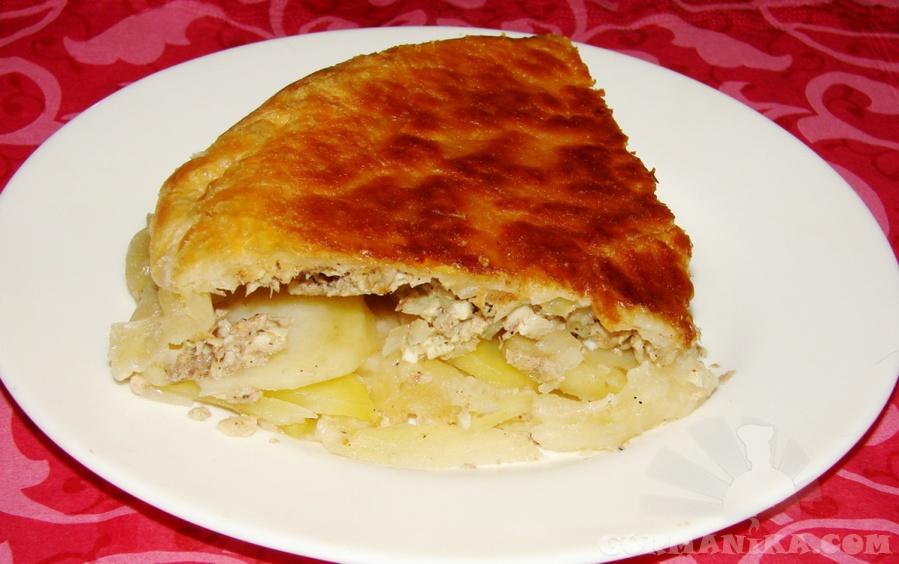 Пиріг з картоплею і рибними консервами: заливний, листковий