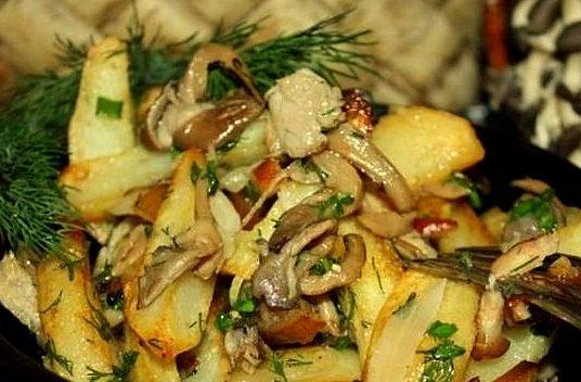 Гливи, смажені з картоплею: рецепти з фото, калорійність