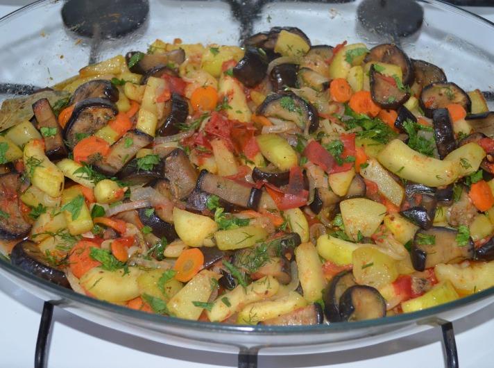 Соте з баклажанів (з кабачками, з гарбузом): рецепти з фото