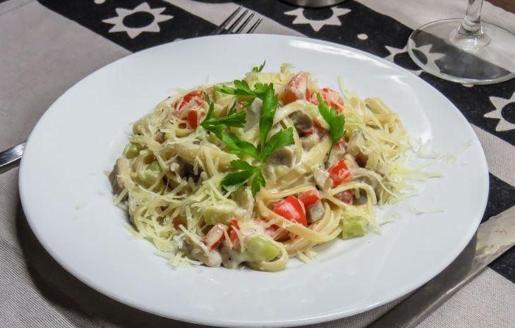 Макарони з овочами (по-італійськи, пісні): рецепти з фото