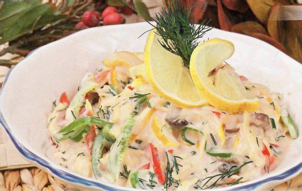 Салат з смаженими грибами (простий, пісний, листковий): рецепти