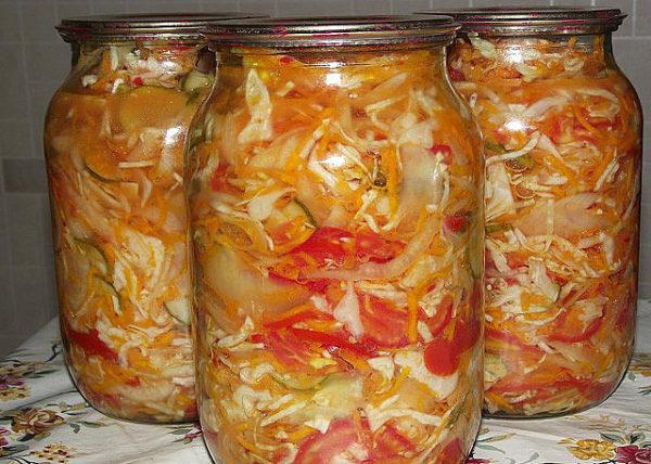 Салат «Осінній» на зиму (з овочів): рецепти з фото покроково