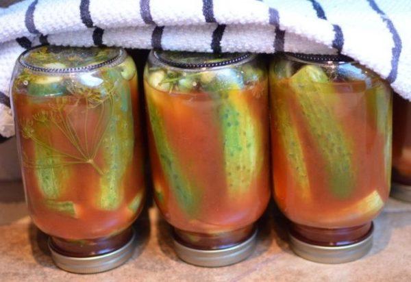Огірки з кетчупом «Чилі» на зиму: рецепти з покроковим фото