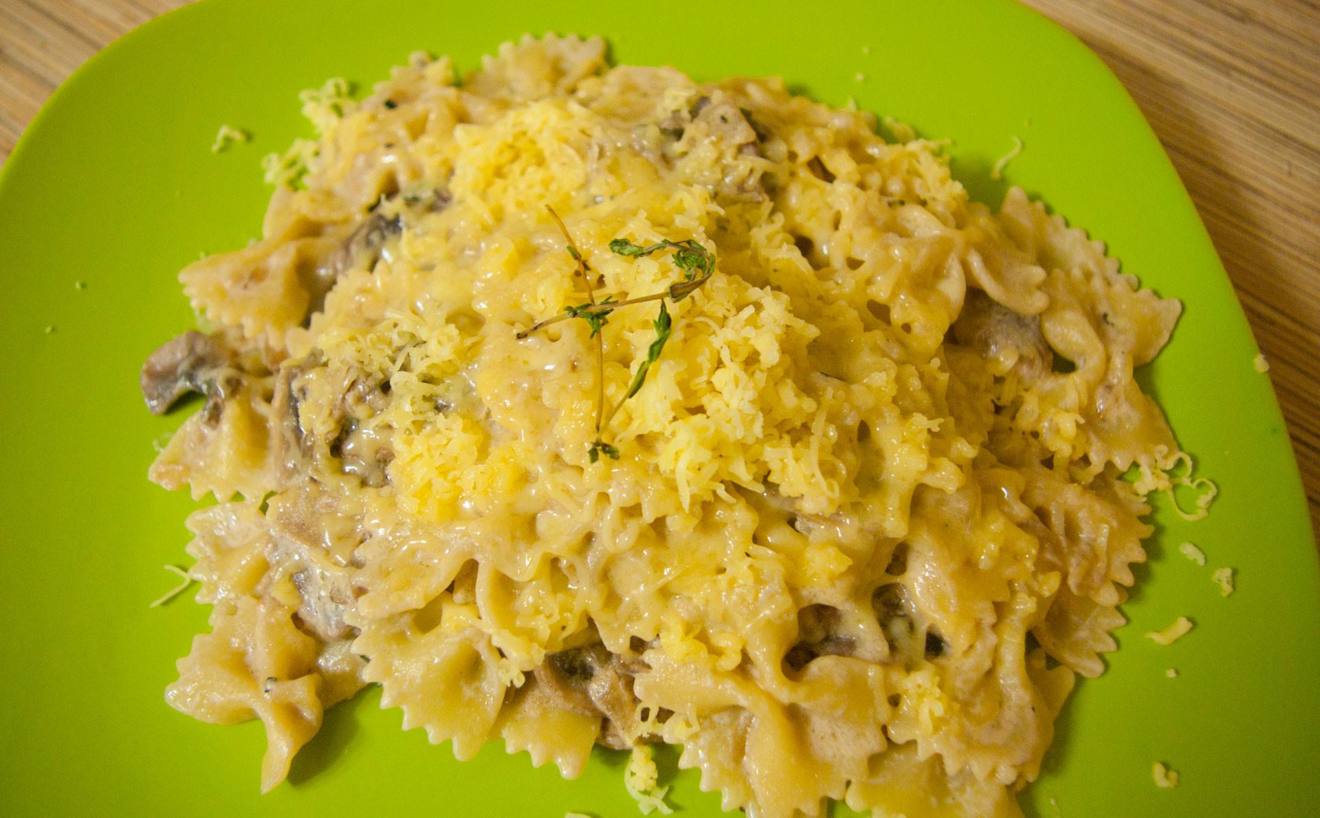 Паста з грибами у вершковому соусі: покрокові рецепти з фото