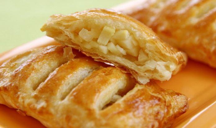 Слойки з яблуками з листкового тіста: рецепти з фото покроково