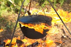 Плов в казані на вогнищі: рецепт приготування з фото і відео