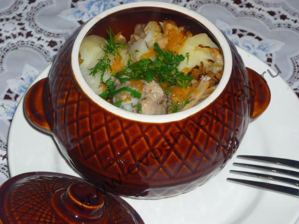 Курка в горщику в духовці з картоплею: рецепти з фото